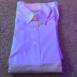 Long sleeved blue button up